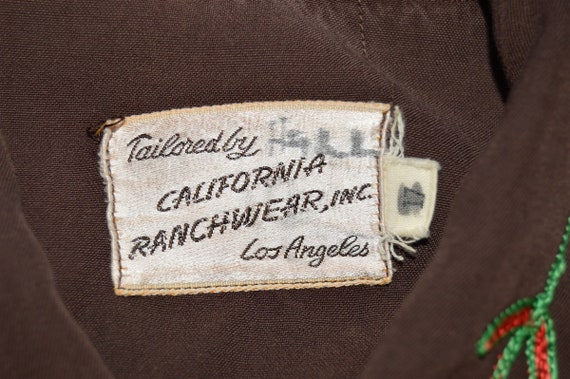 50s Embroidered Pearl Snap Western Shirt Extra La… - image 7