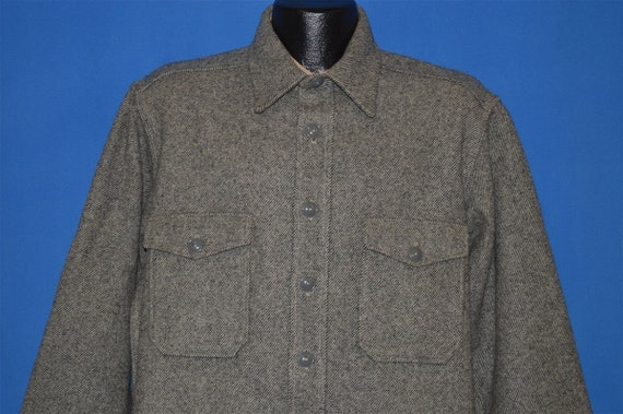 50s Woolrich Heavy Shirt Jac Wool Shirt Large