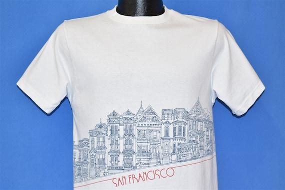 80s San Francisco Painted Ladies Crazy Shirts t-sh
