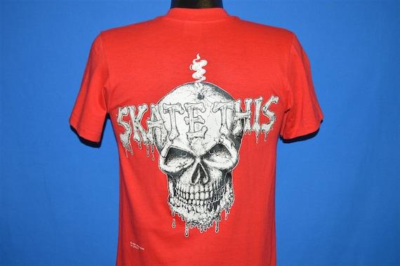 80s Skate This Skull t-shirt Small