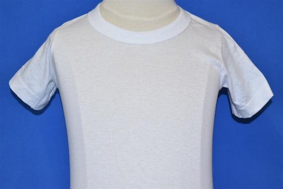 70s Blank White t-shirt Toddler 2T - image 1