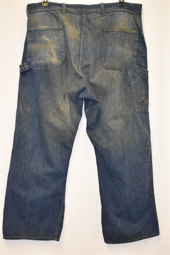 40s Railroad Carpenter Jeans Work Pants Size 40 - image 4