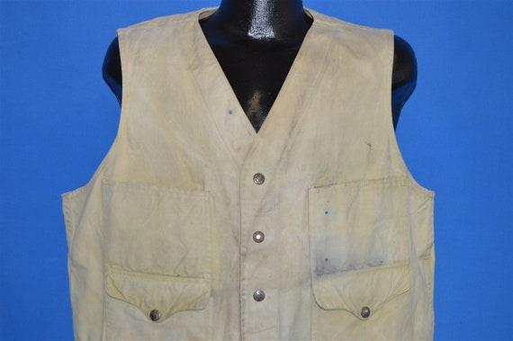 70s Filson Distressed Hunting Fishing Vest Extra L