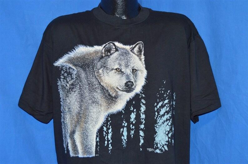 f9613ba6c 90s White Wolf Forest t-shirt Extra Large | Etsy
