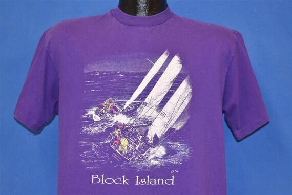 80s Block Island Rhode Island Sailing t-shirt Larg