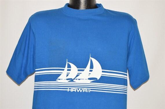 80s Hawaii Sailboat Wrap Around t-shirt Large