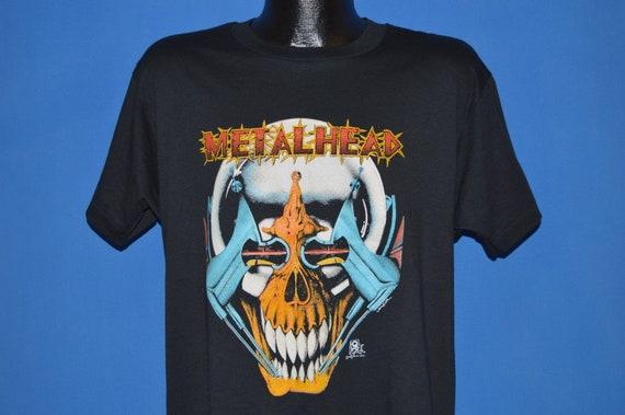 80s Metalhead Skull Cyborg Deadstock t-shirt Large