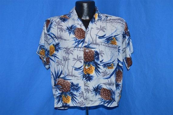 50s Sears Pineapple Rayon Aloha Hawaiian Shirt Me… - image 2