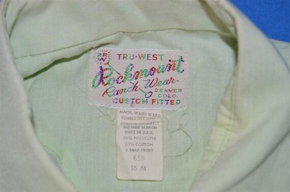 70s Rockmount Green Pearl Snap Shirt Medium - image 4