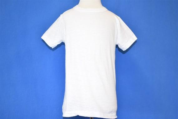 60s Blank White Hanes Cotton Plain t-shirt Toddle… - image 2