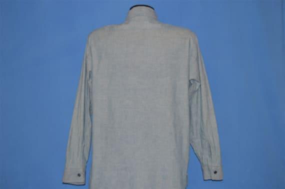 40s Chambray Denim Selvage Work Shirt Medium - image 6