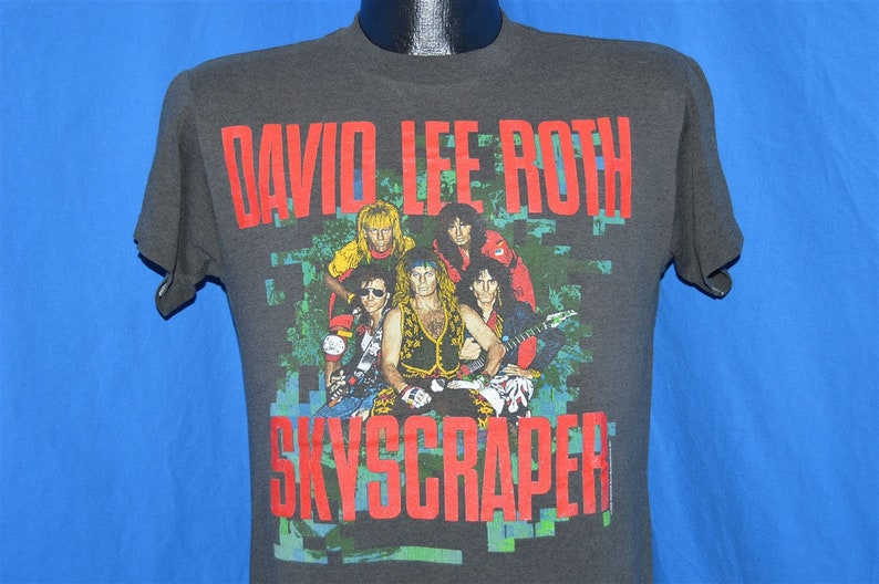 dec1a3763ed 80s David Lee Roth Diamond Dave Skyscraper Tour t-shirt Medium