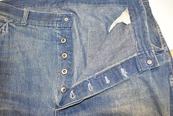 40s Railroad Carpenter Jeans Work Pants Size 40 - image 6