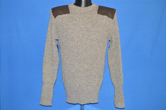 80s LL Bean Brown Wool Rib Knit Sweater Medium - image 2