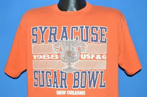 80s Syracuse Orangemen 1988 Sugar Bowl t-shirt Lar