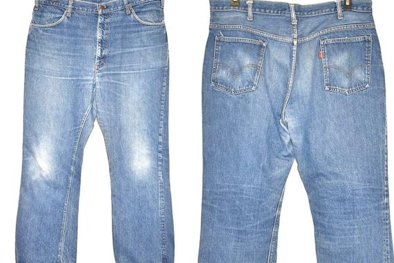 70s Levis Orange Tab Denim Blue jeans Size 39  - image 1