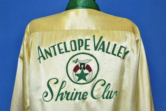 40s Antelope Valley Shrine Club Yellow Satin Bowli
