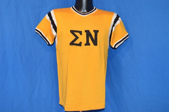 50s Sigma Nu Greek Fraternity Jersey t-shirt Small - image 2