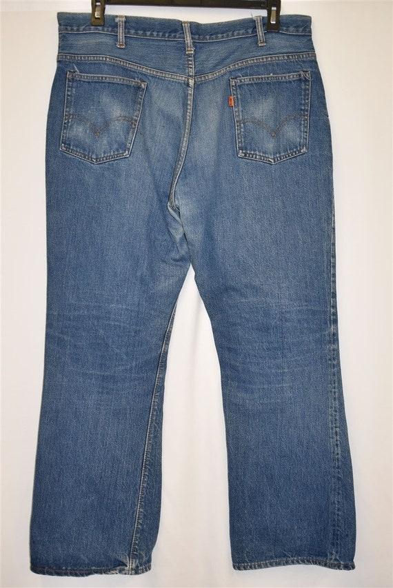 70s Levis Orange Tab Denim Blue jeans Size 39  - image 3