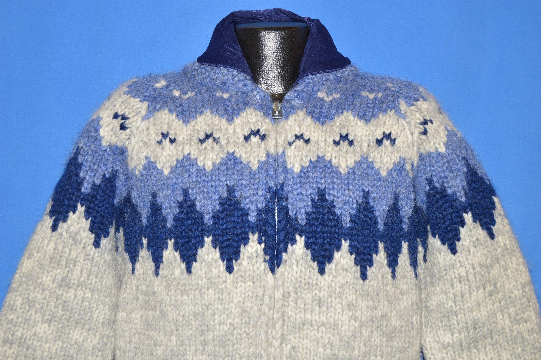 80 s tricotés à la main de Cowichan Tuak Tuak Tuak petit pull en laine 8af5b2