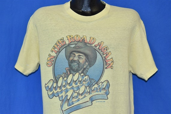 80s Willie Nelson On the Road Again t-shirt Large