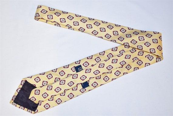 80s Polo Ralph Lauren Yellow Geometric Motif Neck… - image 3