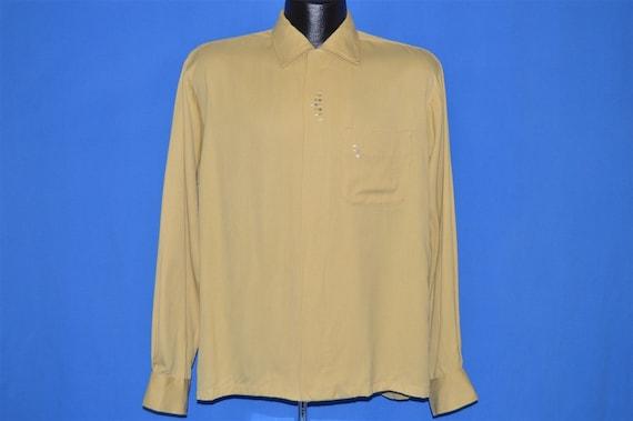 50s Sears Rockabilly Loop Collar Shirt Medium - image 2