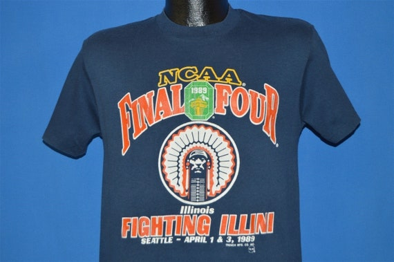 80s Fighting Illini 1989 NCAA Final Four t-shirt S