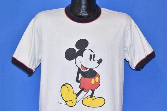 80s Mickey Mouse Ringer Walt Disney Cartoon t-shir