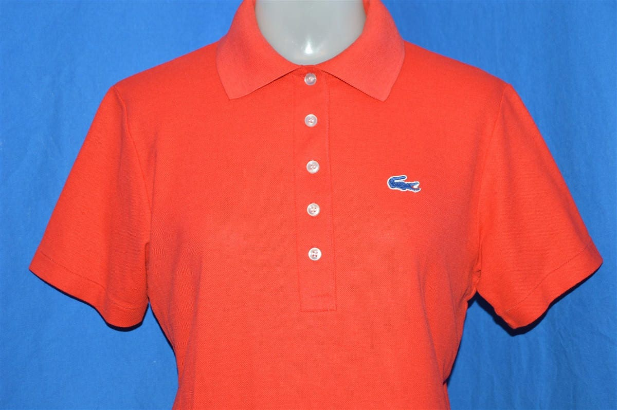 70s Haymaker Lacoste Red Polo Shirt Womens Medium Etsy