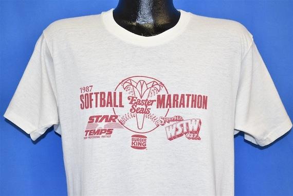 80s Softball Marathon '87 Easter Seals t-shirt Med