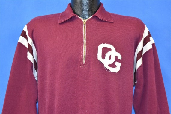 50s Southern Athletic Maroon And White Pull Over S