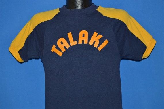 70s Talaki Blue and Yellow Blue Bar Champion t-shi