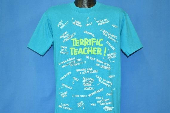 80s Terrific Teacher Funny t-shirt Large