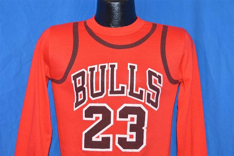 e0cf7efd7d9c8b 90s Chicago Bulls Michael Jordan 23 Uniform Pajama Top Red