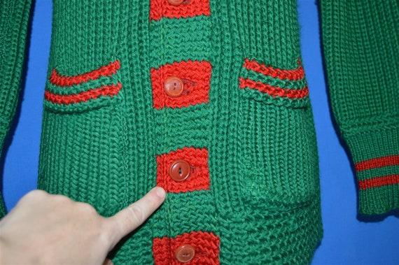 30s Shawl Collar Standard Knitting Mills Wool Car… - image 4