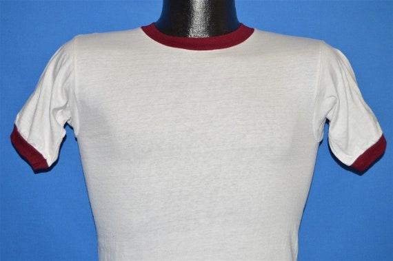 60s Champion White Maroon Blank Ringer t-shirt Ext