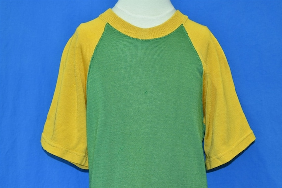 60s Green Yellow Jersey t-shirt Medium
