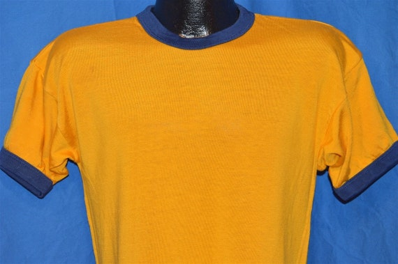 50s Southern Athletic Gold Blue Ringer Jersey t-sh
