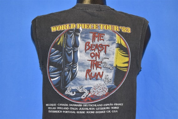 80s Iron Maiden World Piece Tour '83 Beast on Run… - image 5