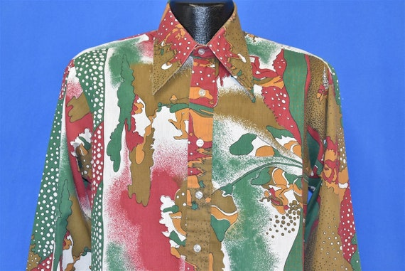 70s Campus Abstract Disco Men's Shirt Medium