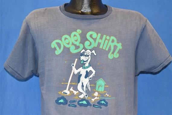 70s Dog Shirt Distresesd t-shirt Large - image 1