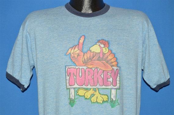 70s Turkey Thanksgiving Ringer t-shirt Large
