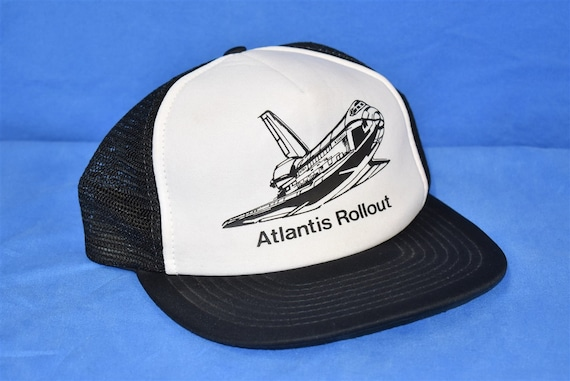 80s Space Shuttle Atlantis Snapback Hat