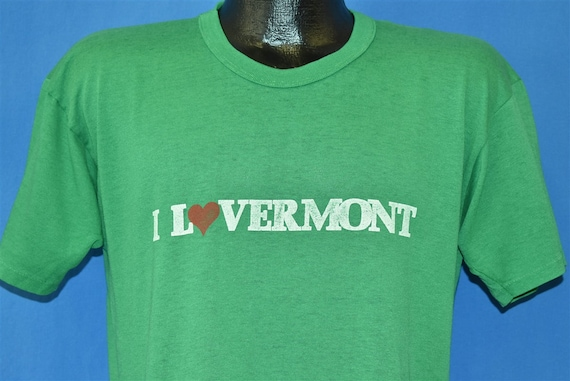 70s I Love Vermont Lovermont Heart t-shirt Large