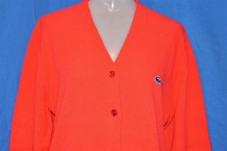 60s Haymaker Lacoste Red Vintage Cardigan Sweater Women s  00b067f06