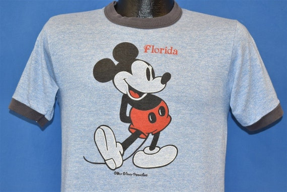 80s Mickey Mouse Rayon Tri Blend Ringer t-shirt Sm