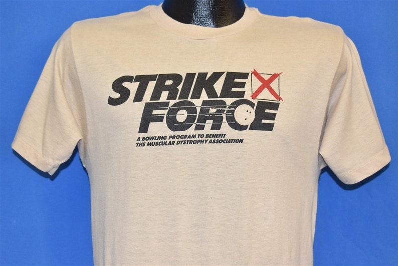 80s Strike Force Bowling Muscular Dystrophy t-shirt Small