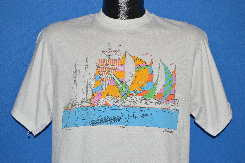 80 dimanche s dimanche 80 les marins B. Johnson t-shirt Medium 5e10f7 2333a18ac0e