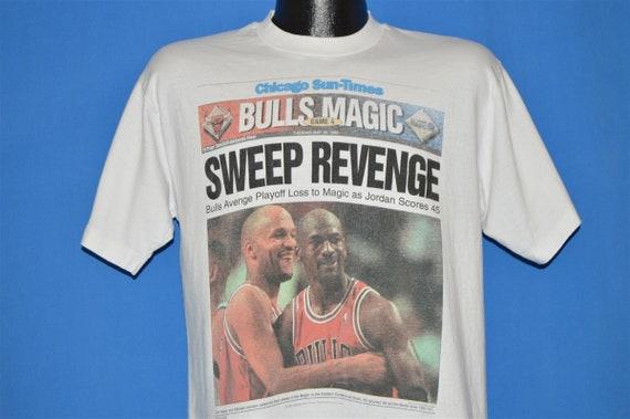 90s Chicago Bulls 1996 t-shirt Large
